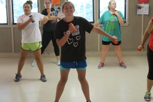 camp jump start - working out